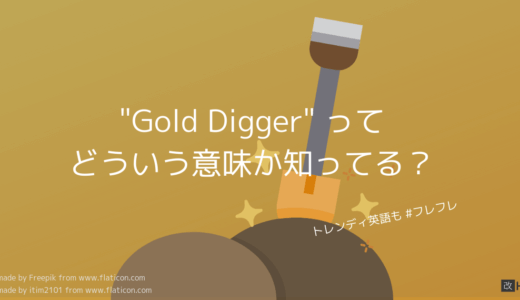 Gold Digger って何?どういう意味?